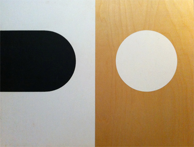Visor, Krylon and Gesso on Birch panel, 18x20 inches $12,000