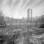 Olmsted Ward Pond, silver gelatin print, 7&quot; x 9&quot; -  by Coster Scott